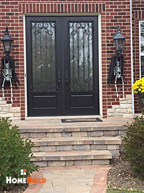 Pella french entry door with custom wrought iron trim on the pella french entry door with custom wrought iron trim on the exterior home build planetlyrics Choice Image