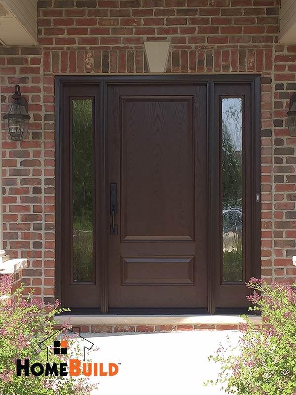 Pella French Entry Door Home Build